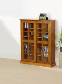 ZZZ Media Storage Cabinet Light Oak
